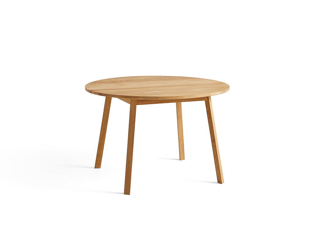 Triangle Leg Table by HAY, Round, Oiled Oak