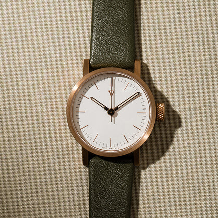 V03P Petite Copper and Olive by Void Watches