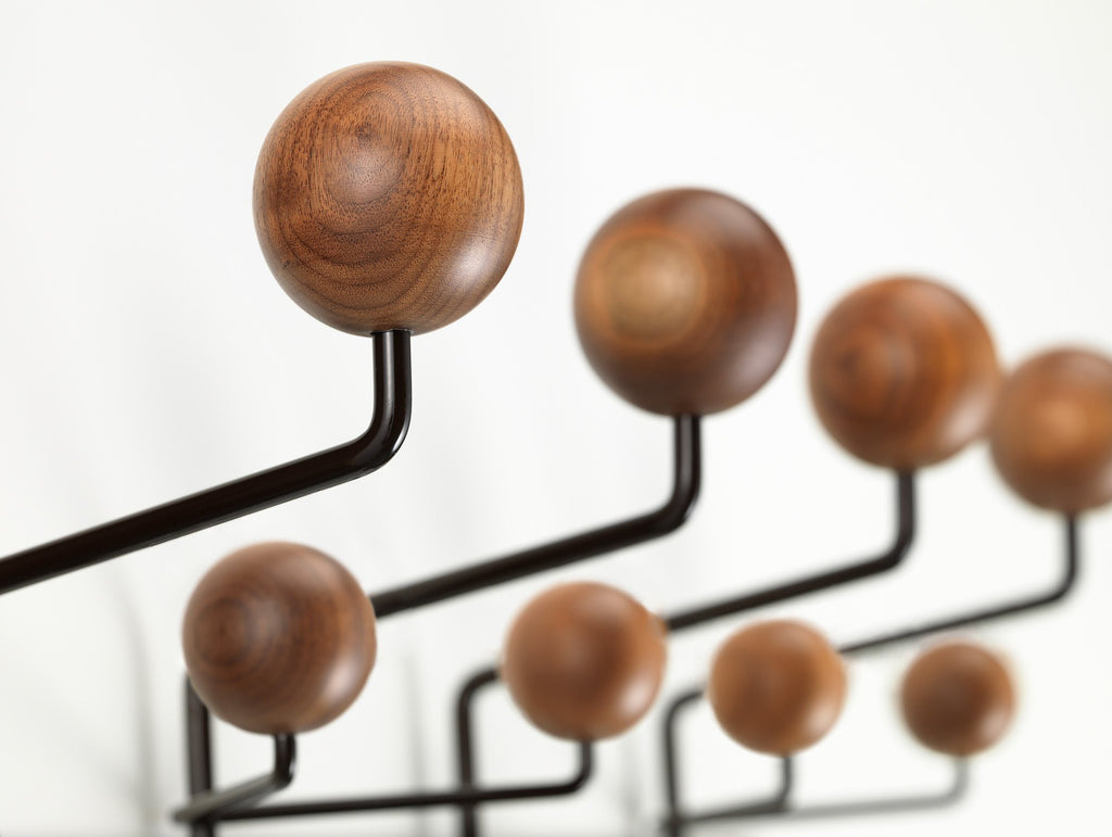 Vitra Eames Hang It All - Walnut and Chocolate