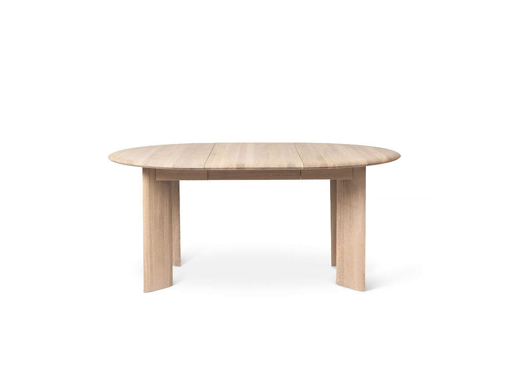 White Oiled Oak Bevel Extendable Table (117 - 167 cm) by Ferm Living