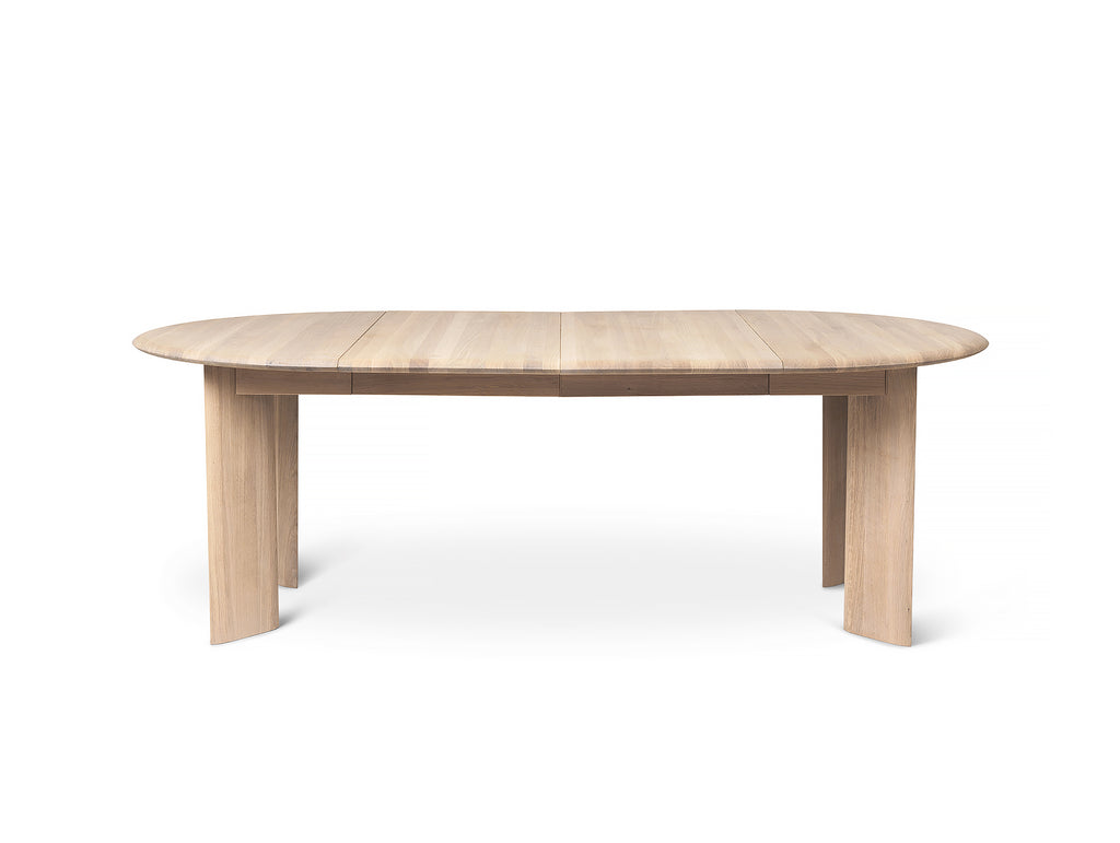 White Oiled Oak Bevel Extendable Table (117 - 217 cm) by Ferm Living