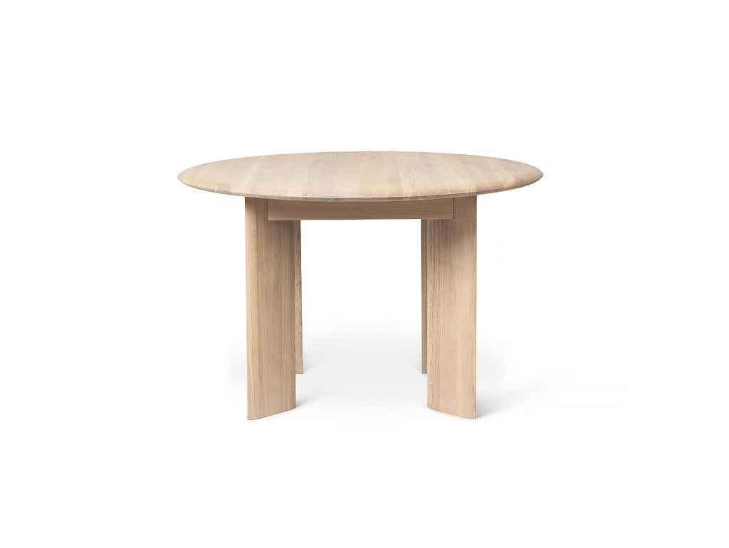 White Oiled Bevel Round Table by Ferm Living