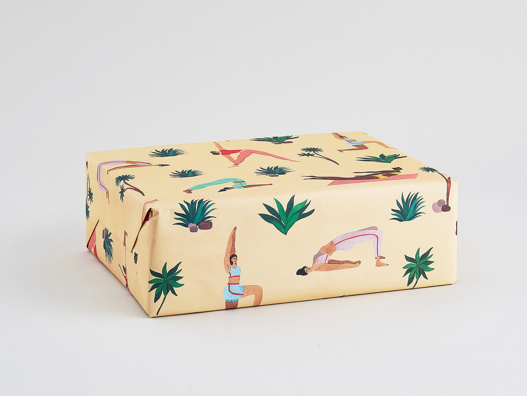 Yoga Wrapping Paper x 3 Sheets by Wrap