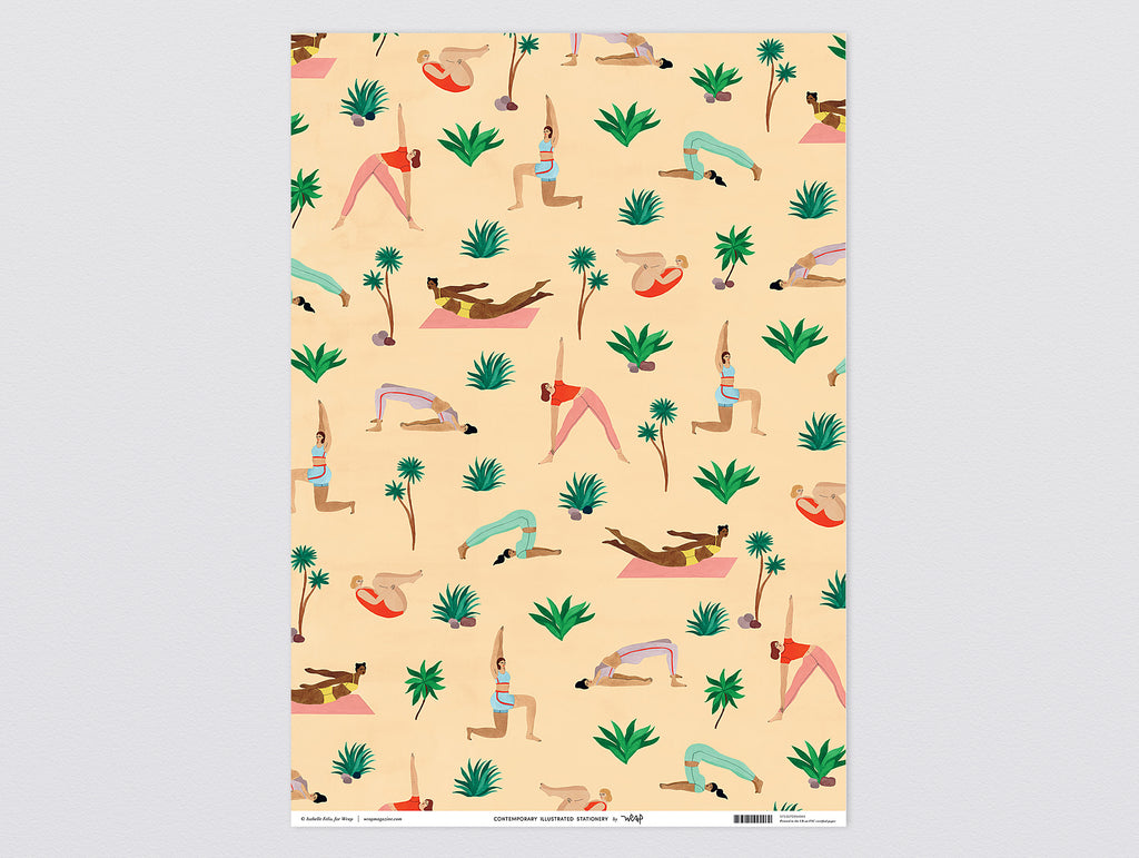 Yoga Wrapping Paper by Wrap