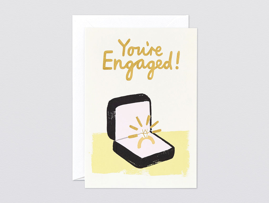 'You're Engaged' Foiled Greetings Card by Wrap