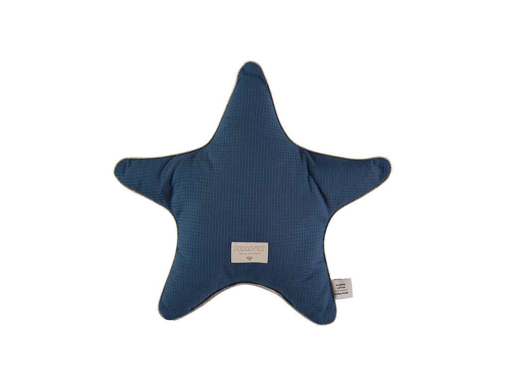 Night Blue Aristote Star Cushion by Nobodinoz