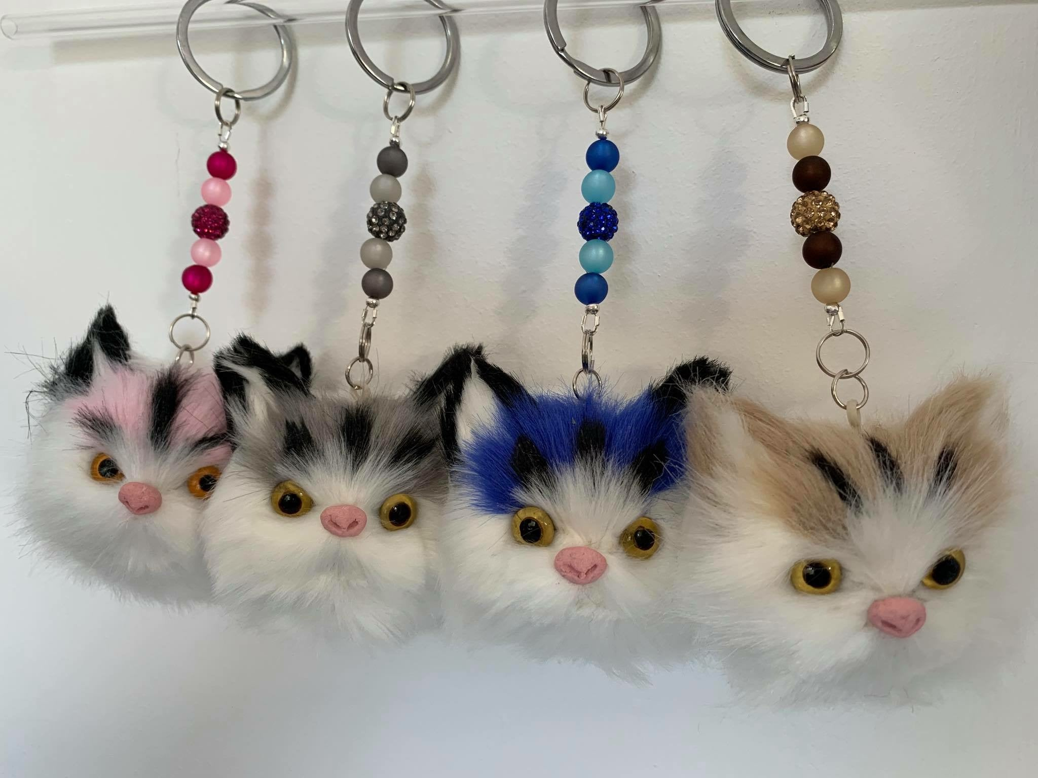 Cat Face Keyring