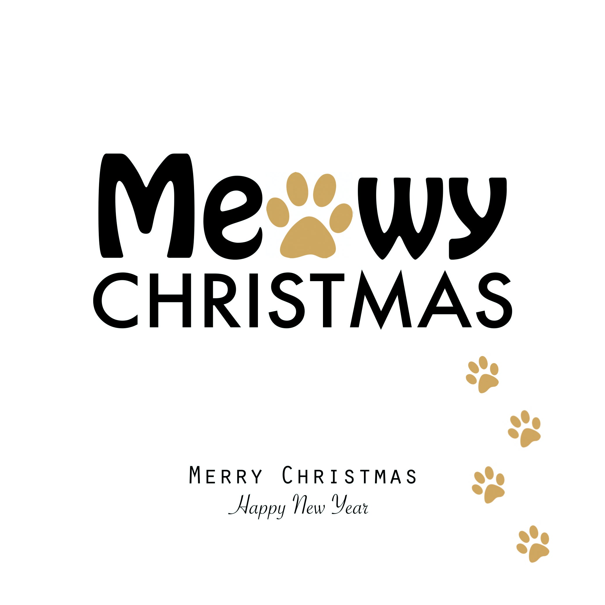 Meowy Christmas Paw Prints