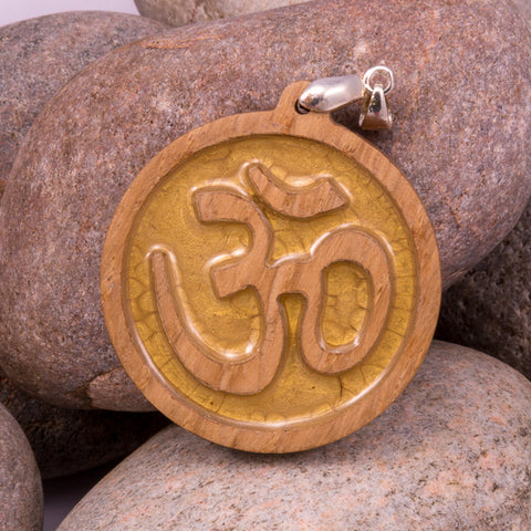 Om Pendant made from contemporary oak (#1205)