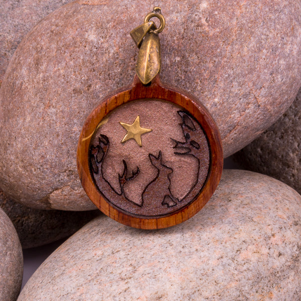 Handcrafted Bespoke Forest Hare Pendant; set in contemporary Mahogany| Jabbawocky Crafts (jabbawockycrafts.co.uk)