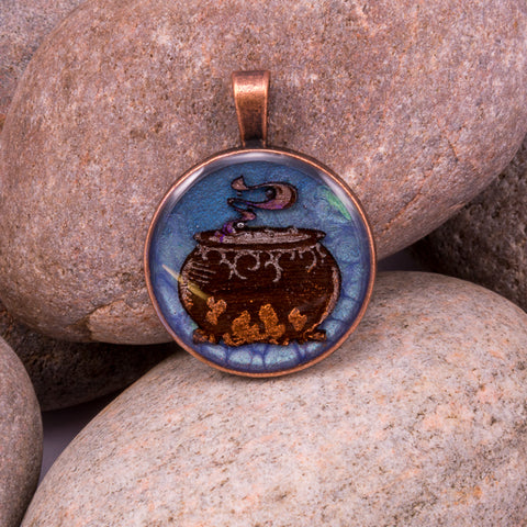 Witches Cauldron Pendant (#1217)