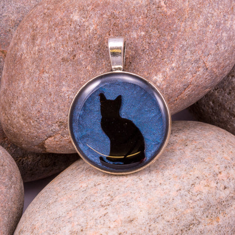 Curious Cat Pendant (#1227)