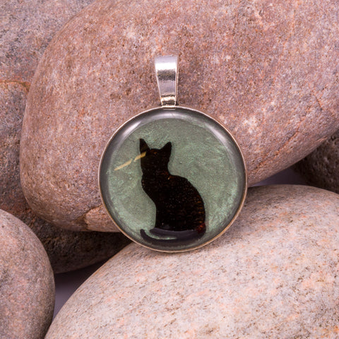Curious Cat Pendant (#1235)