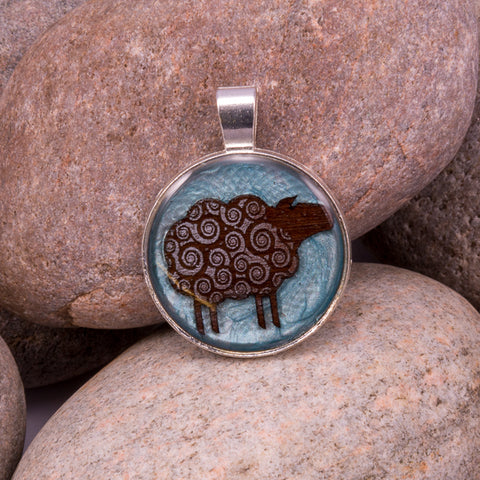 Woolly Sheep Pendant (#1243)