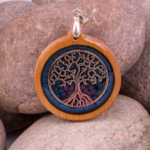 Handcrafted Bespoke Tree of Life Pendant; set in contemporary wood.| Jabbawocky Crafts (jabbawockycrafts.co.uk)