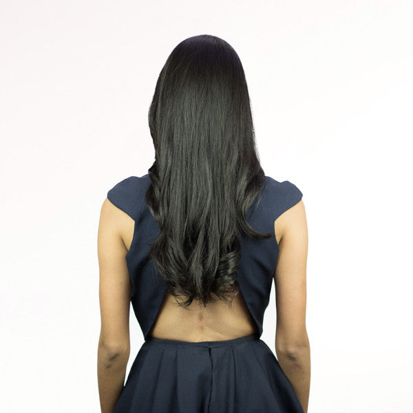 Black Hair Extension - Before Shot