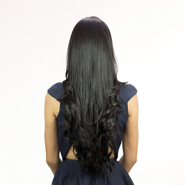 Black Hair Extension - After Shot