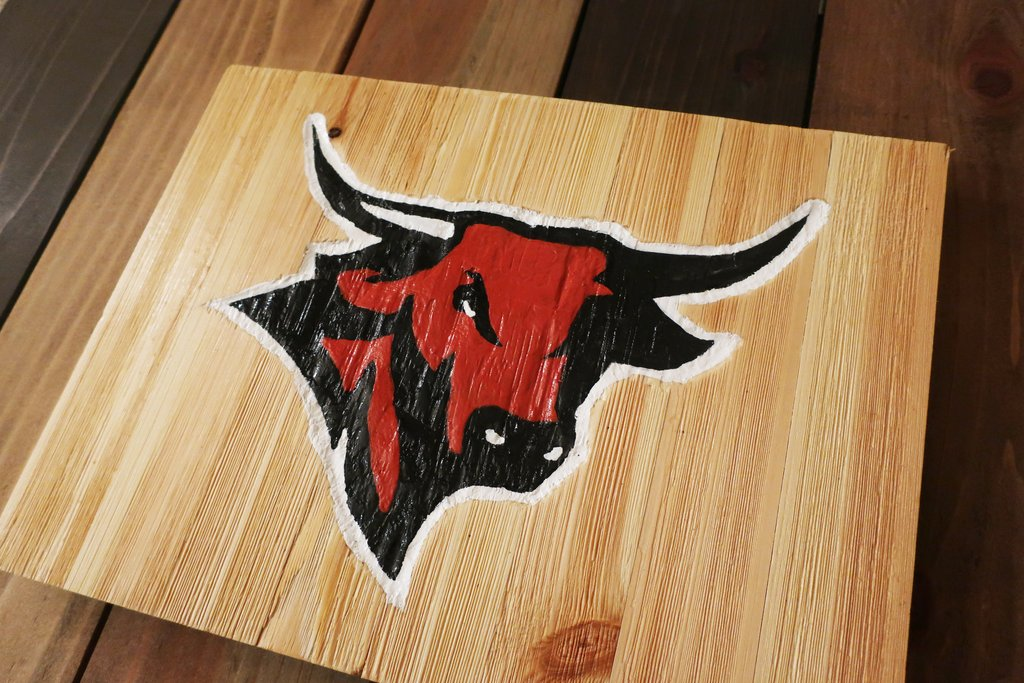 Use a Stencil to Create a Hand-Carved Logo Sign