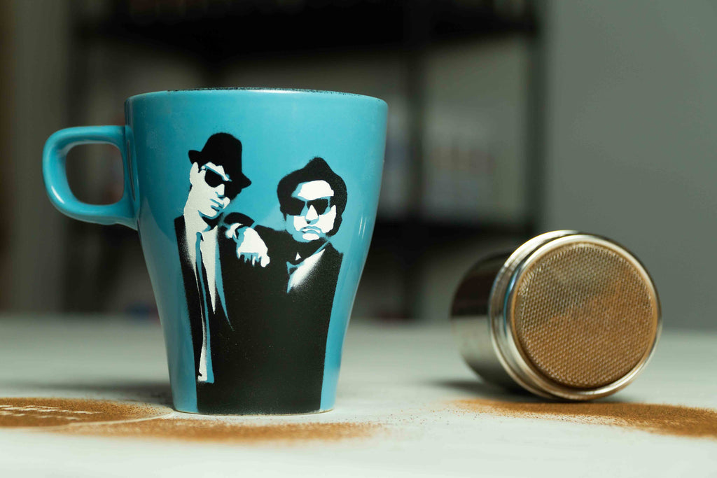 Blue Brothers Coffee Mug Stencil: Free Download and Tutorial