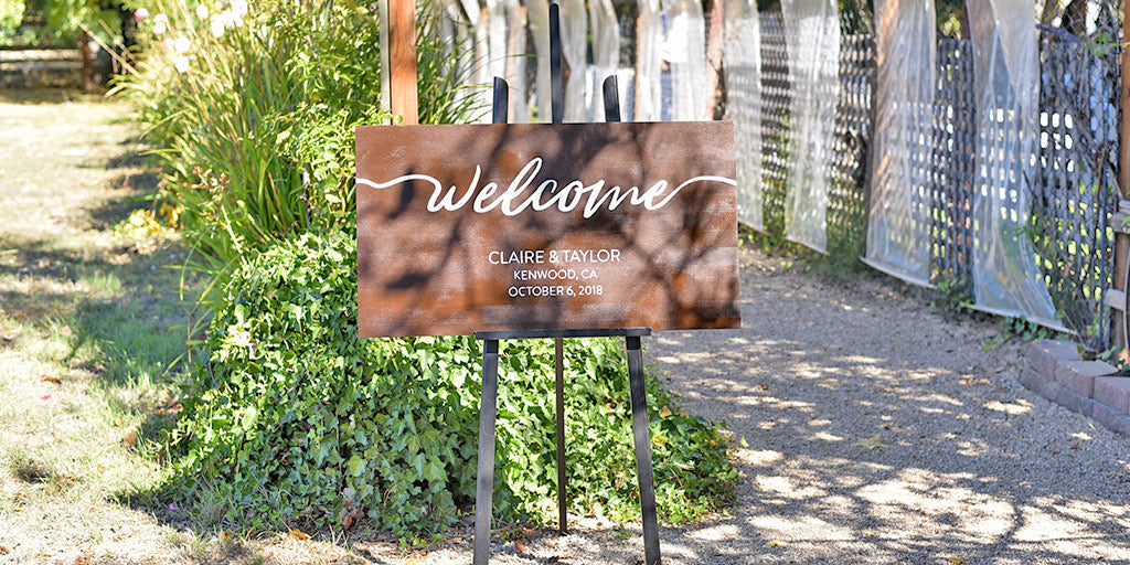 How to Make a DIY Wedding Welcome Sign