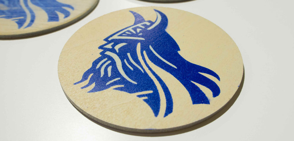 How to Make Wooden Beer Coasters Using a Stencil
