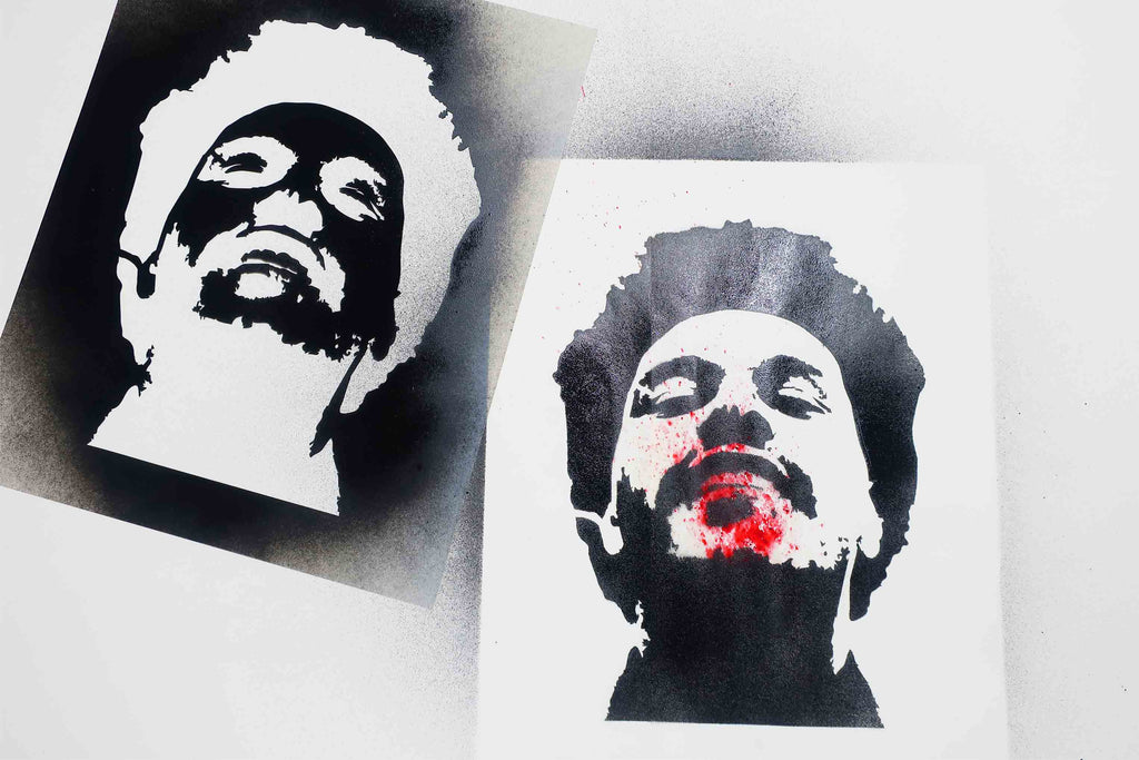 The Weeknd Stencil Free Download and Tutorial