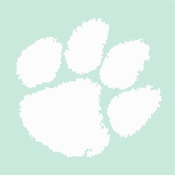 Clemson Paw Logo Stencil with Paint