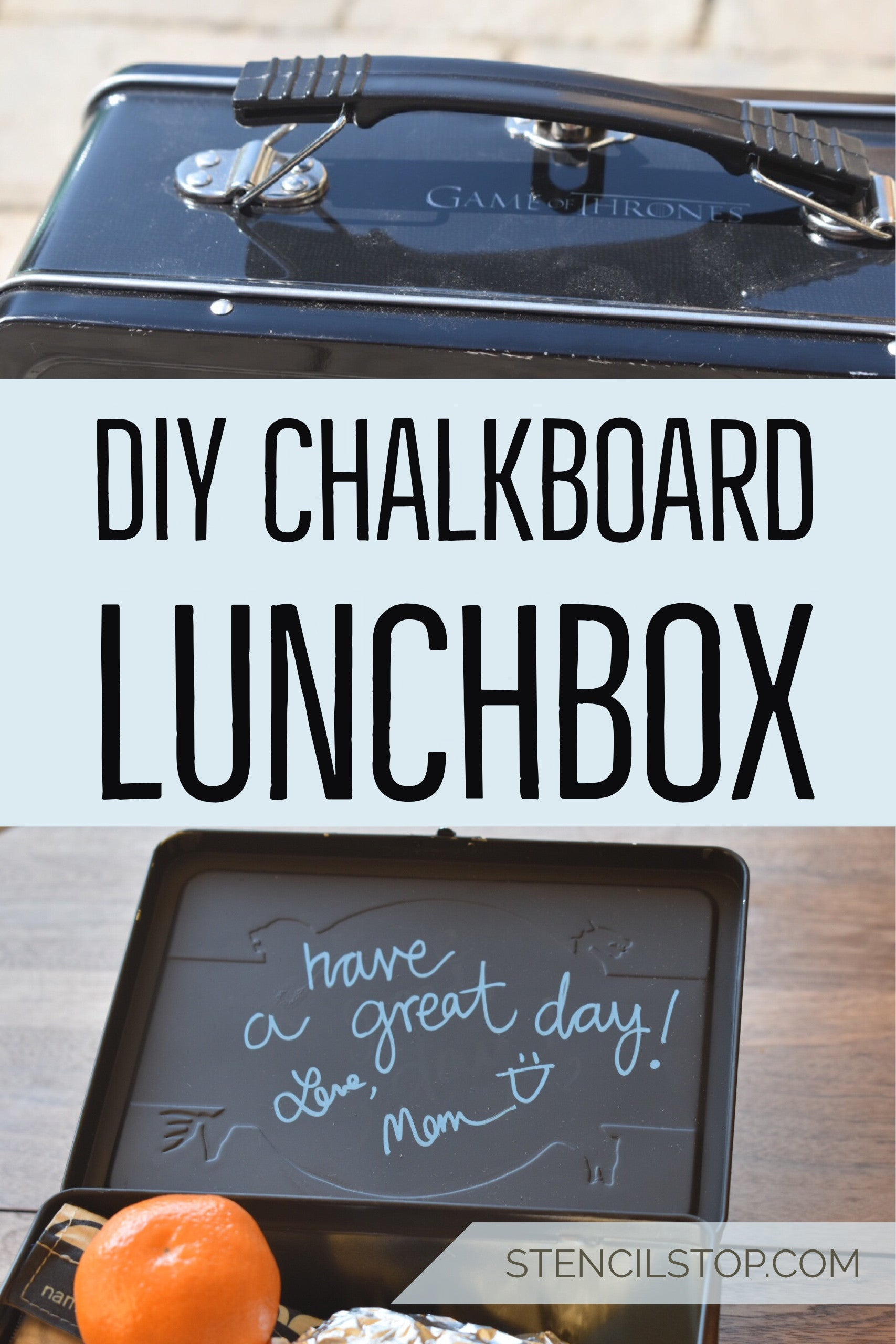 Stencil Stop - Pinterest DIY Chalkboard Lunchbox Project