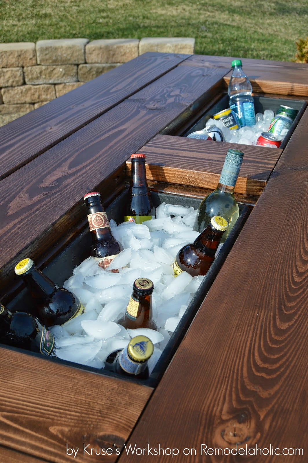 Stencil Stop - Father's Day DIY Gifts Patio Table with Built-In Ice Chests