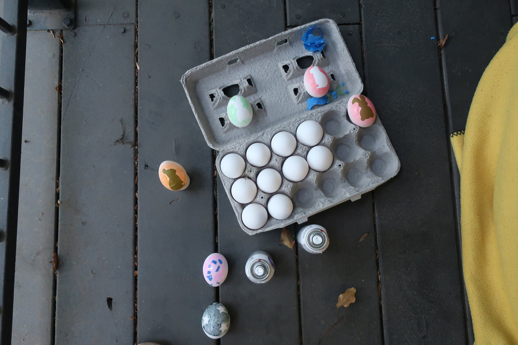 Painted Easter Eggs - Stencil Stop