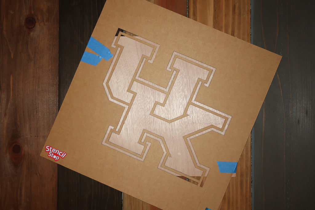 Stencil Stop - University of Kentucky Stencil on Wood Panel