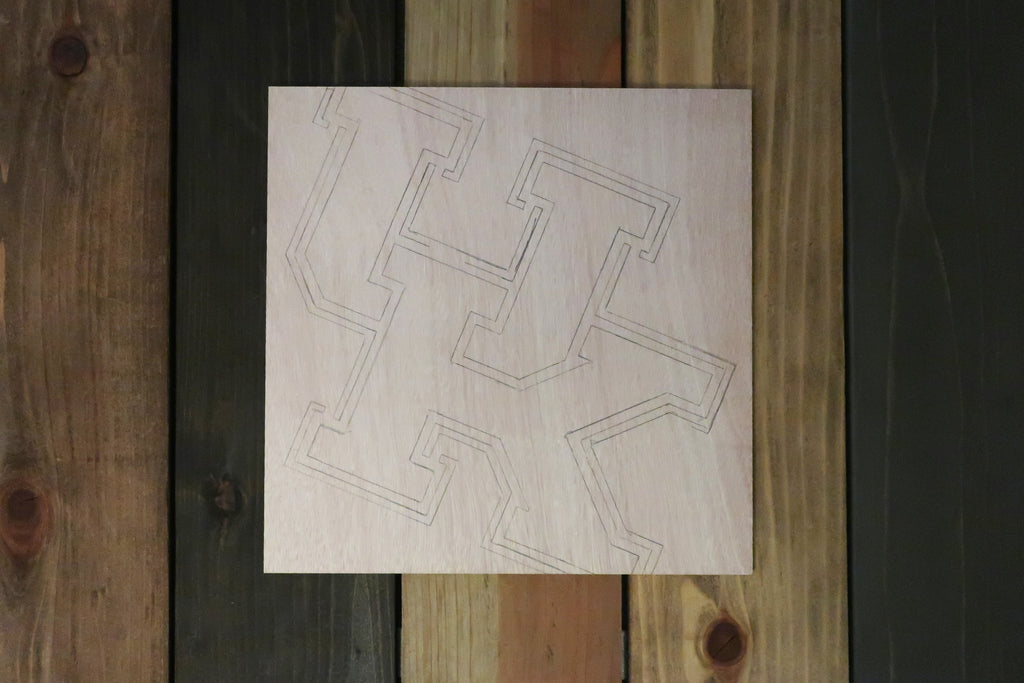 Stencil Stop - Kentucky Logo on Wood