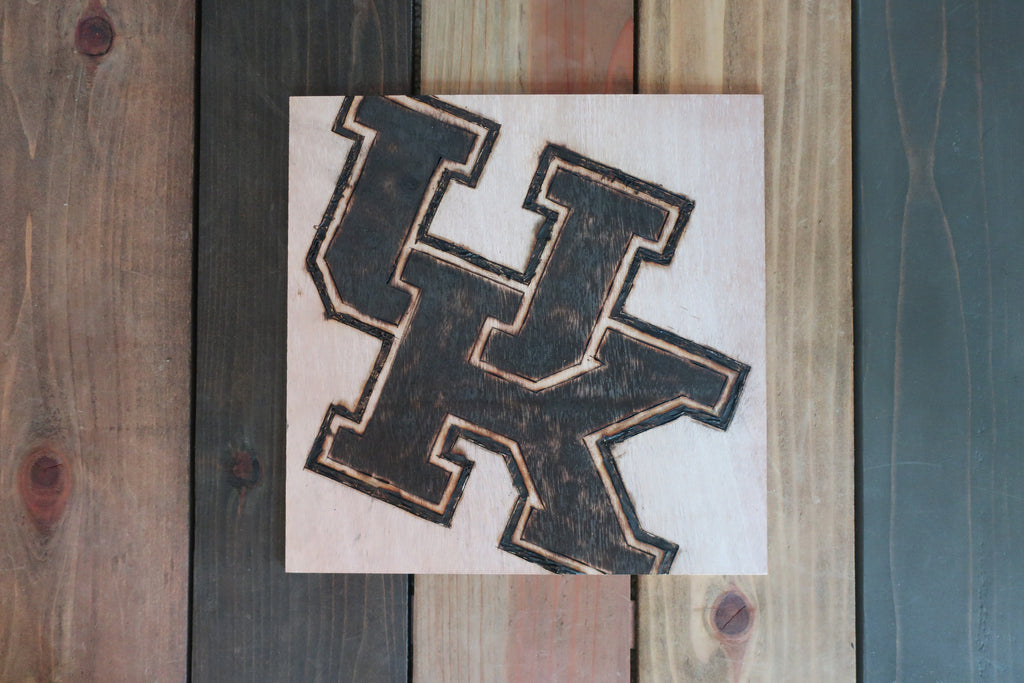 Stencil Stop - UK Logo Wood Sign