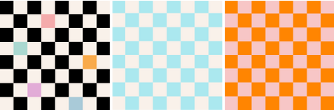 Three examples of chess boards