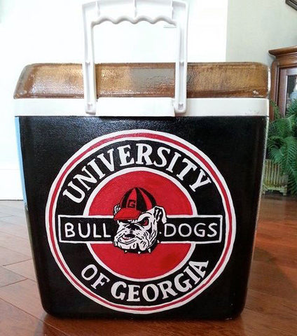 Stencil Stop - University of Georgia Bulldogs Cooler