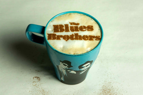 Blues Brothers Stenciled Coffee and Mug