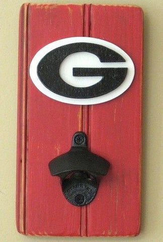Stencil Stop - Wall-Mounted Can Opener Georgia Bulldogs
