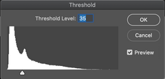 Photoshop Threshold Slider