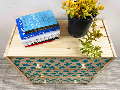 How we styled our dresser with succulents and books