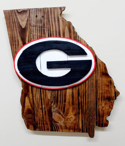 Stencil Stop - Georgia Bulldogs G Logo on Wood