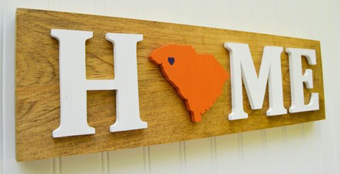 Stencil Stop - South Carolina Home Wood Sign