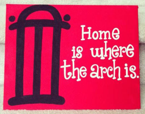Stencil Stop - Home Is Where the Arch Is Georgia Bulldogs on Canvas