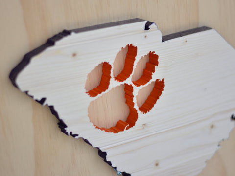 Stencil Stop - South Carolina Clemson Wood Cutout