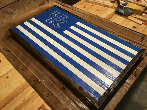 Stencil Stop Kentucky Wildcats Wood Flag