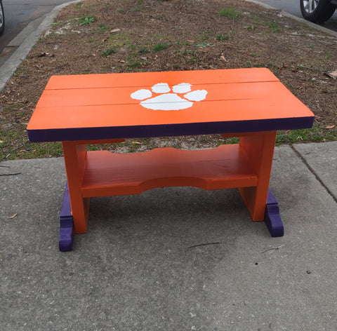 Stencil Stop Clemson Tigers Logo Table
