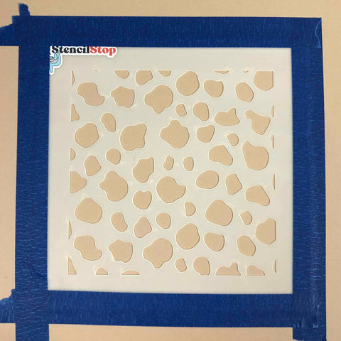 stencil with adhesive