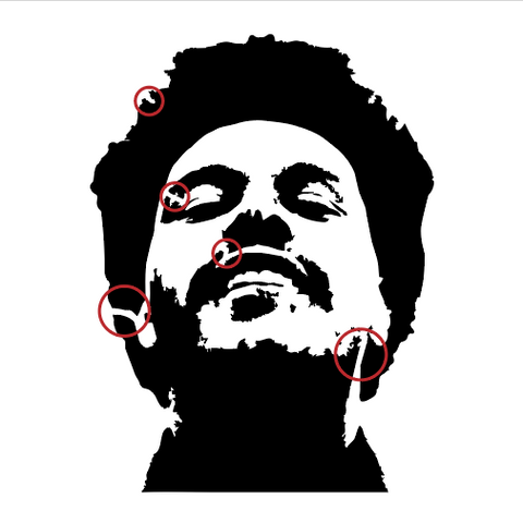 Weeknd Stencil with Bridges