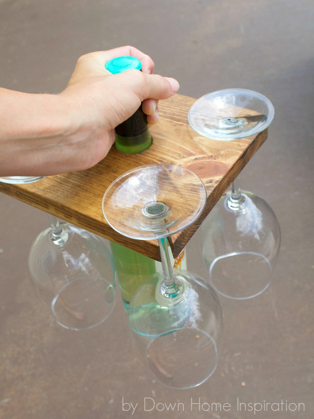 Stencil Stop - Father's Day DIY Gifts Wine Bottle and Glass Holder