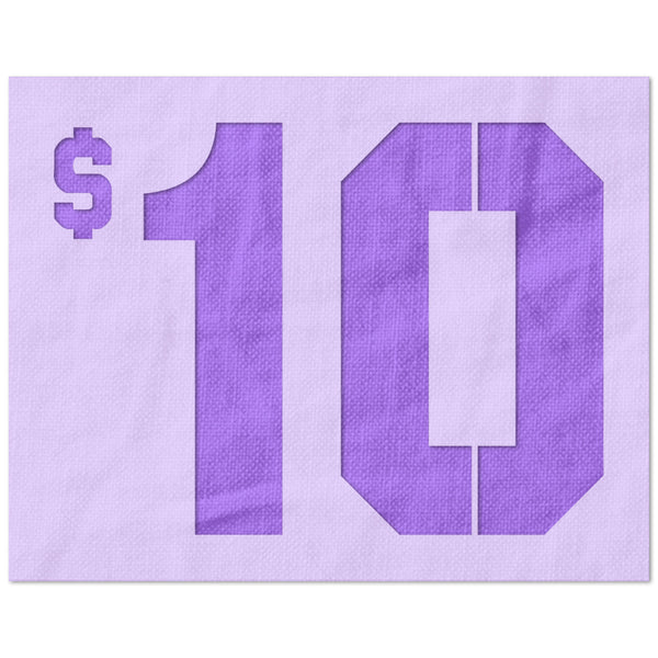 10 Dollers Stencil