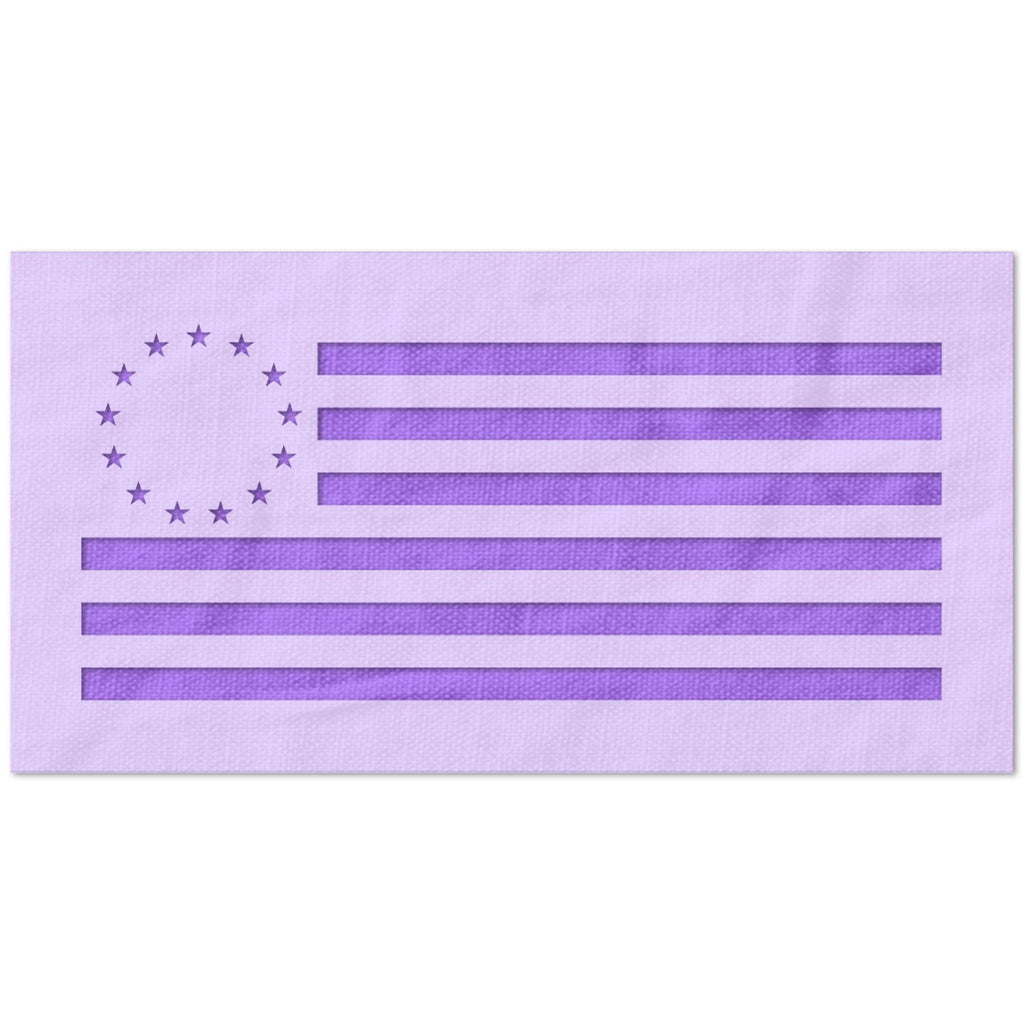 13 Colonies USA Flag Stencil